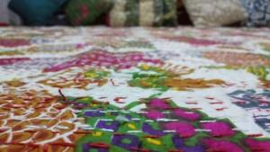 Handmade Kantha reversible quilts  - Kantha blanket.  Reversible quilt.  Best quality products