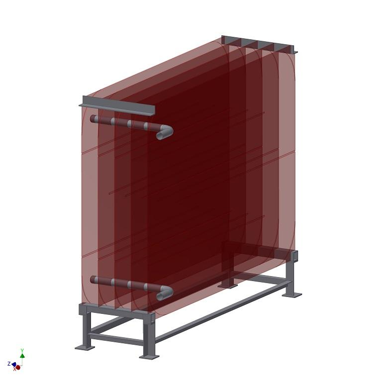 Waste water heat exchanger - wastewater heat in the sewage canal, sewer, canalisation