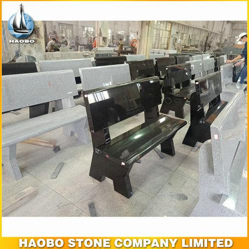 Simple Hot Sale Granite Bench Headstone For Cemetery - Bench Headstone, with made in black granite + white granite by Haobo factory