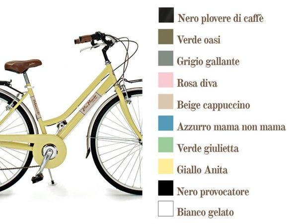 Via Veneto VV605L – 6 Velocidades, ruedas 700C, Cuadro de Acero - Via Veneto