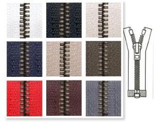 Zip 6 Metaluxe © CDF séparable (Standard - 60 cm - Noir) - Fermetures à glissière