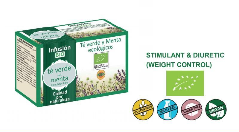 Green Tea Bio - Stimulant & Diuretic (Weight control).