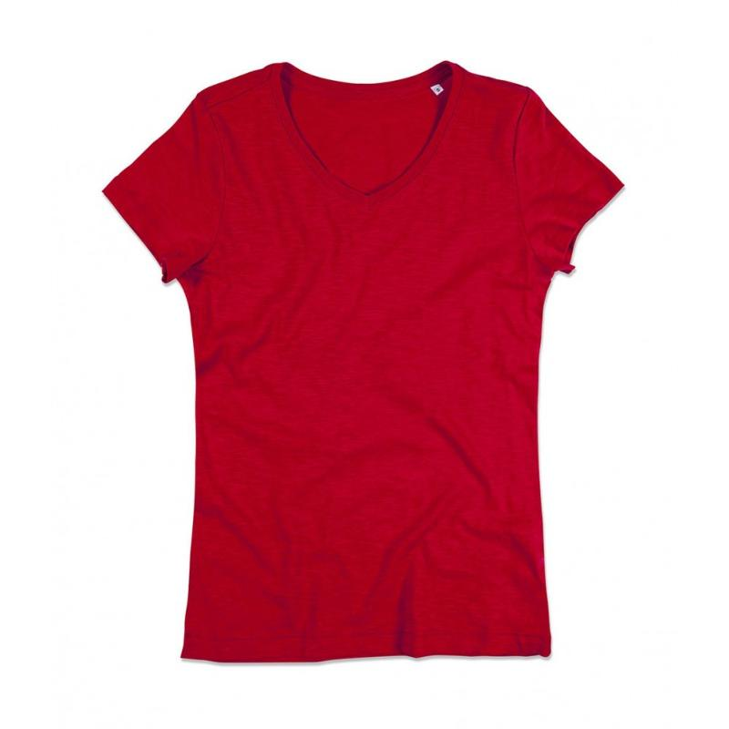 Tee-shirt femme col V Sharon - Manches courtes