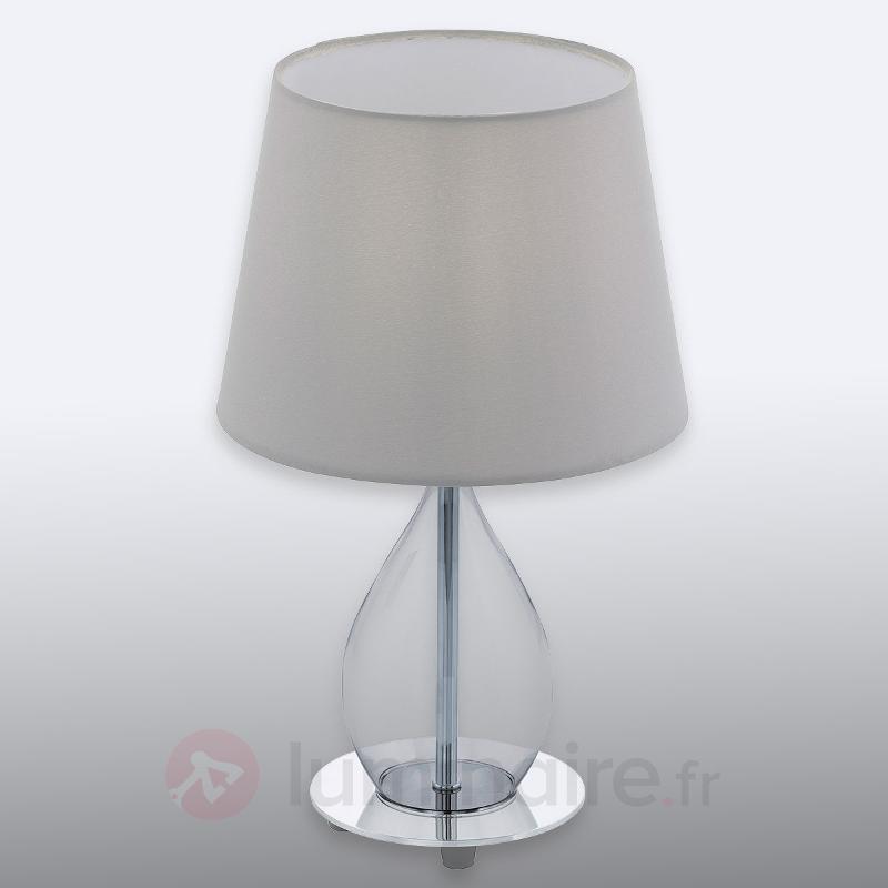 Lampeà poser passionnante Rineiro, pied en verre - Lampes à poser rustiques