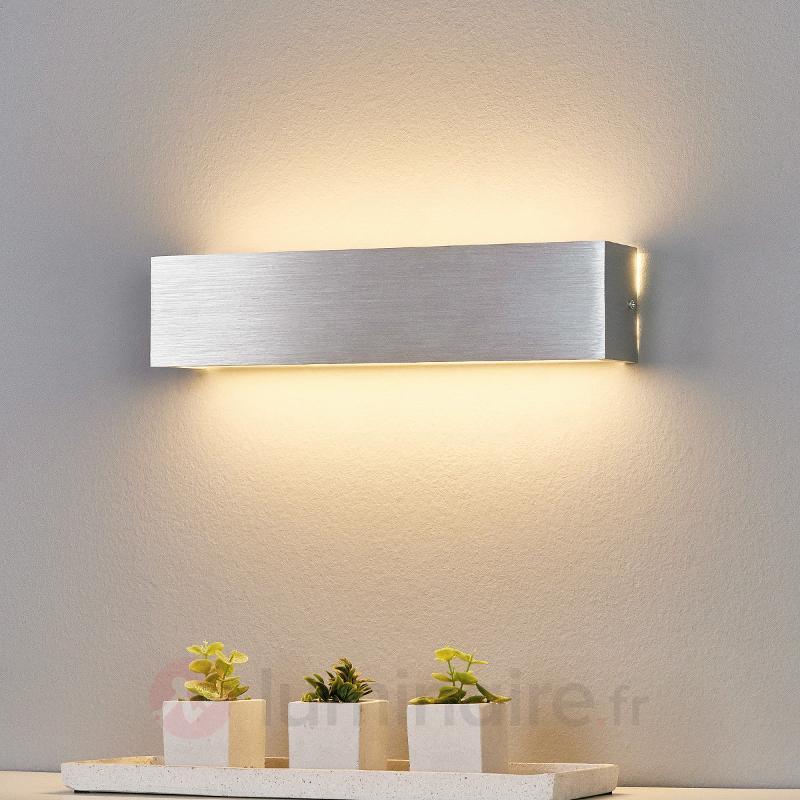 Applique LED Ranik couleur aluminium - Appliques LED