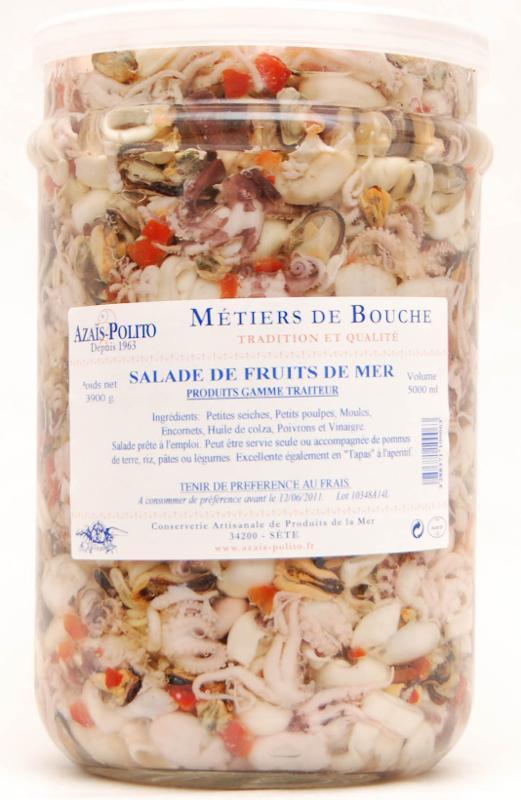 Salade de Petits Poulpes 5l - Produits de la mer