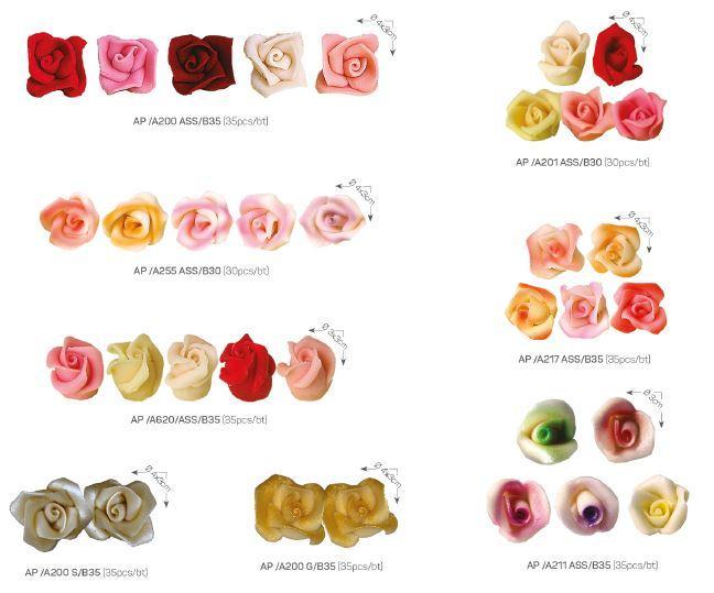 Almond paste - Decoration items