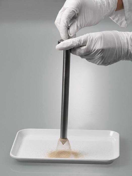 Barrena sacamuestras - Muestreo de materiales a granel que se inclinan o atascan fácilmente