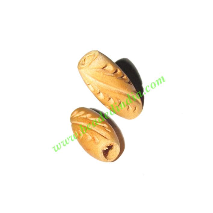 Natural Color Wooden Beads, size 9x20mm, weight approx 0.61  - Natural Color Wooden Beads, size 9x20mm, weight approx 0.61 grams