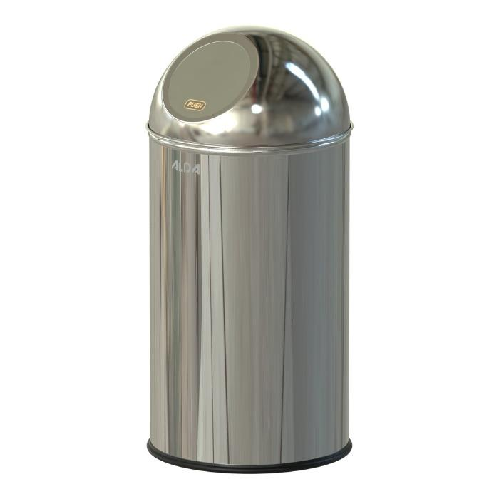 BIN WITH FLAP CLEAN WORD - BIN WITH STAINLESS COVER & CLOSED FLAP