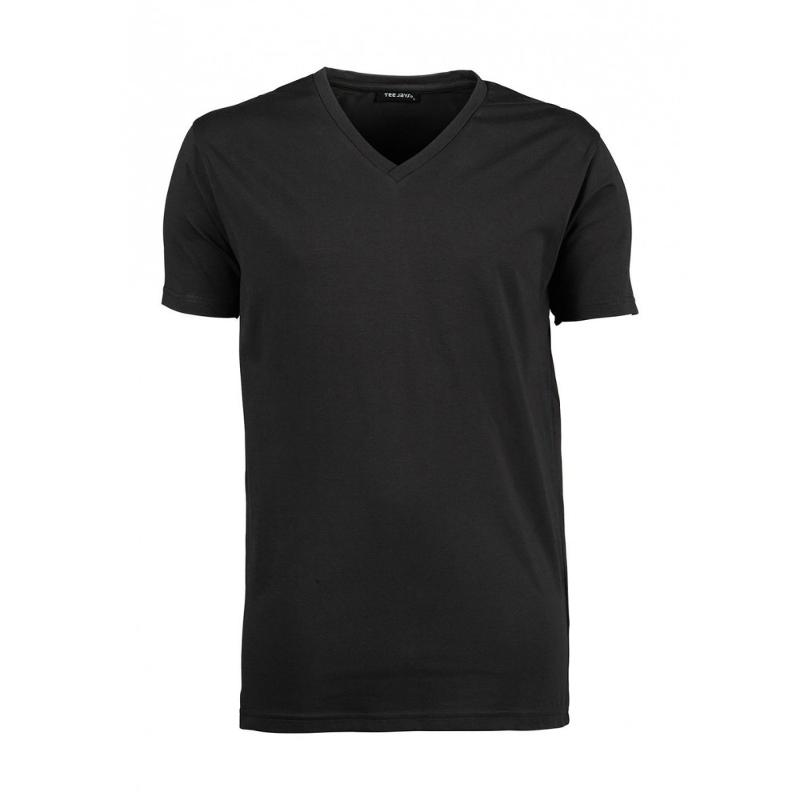 Tee-shirt homme Stretch col V - Manches courtes