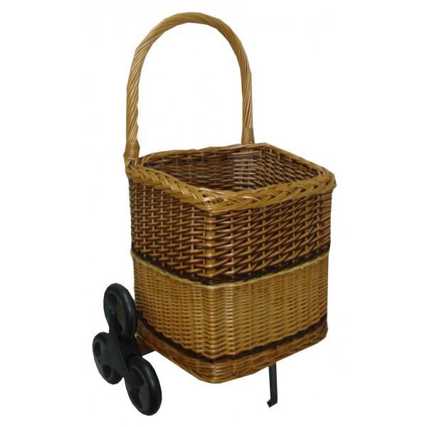 Chariot à bois carré 6 roues - null