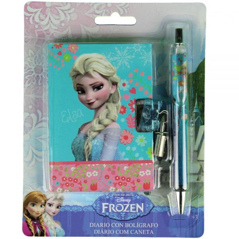 12x Journal avec stylo La Reine des Neiges 8x11 - Papeterie