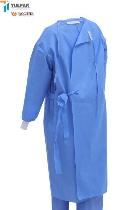 ثوب جراحي معقم للرسائل القصيرة يمكن التخلص منه - عباءة جراحية sms معقمة لون أزرق 30 40 55 جرام
