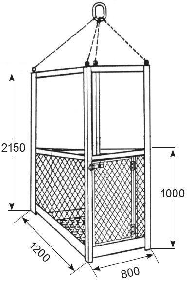 Nacelles de levage - Nacelle de travail pour 2 personnes type NA-2