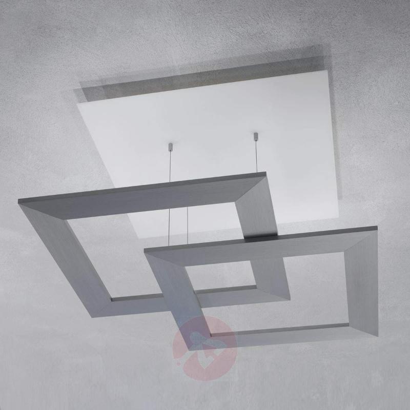 Harmonic LED ceiling light Zen 80 cm aluminium - Ceiling Lights