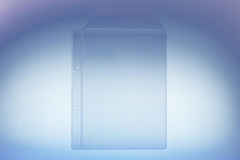 Klarsichttasche für 1 DVD Box - mit seitlichem... - Klarsichttaschen für CD/DVD/Bluray