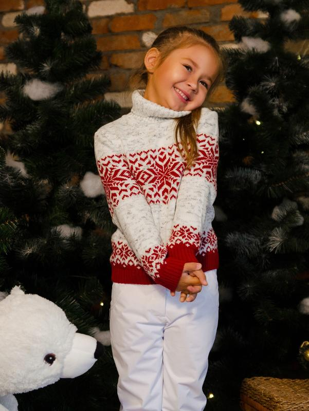 Sweater with a snowflake - Girls