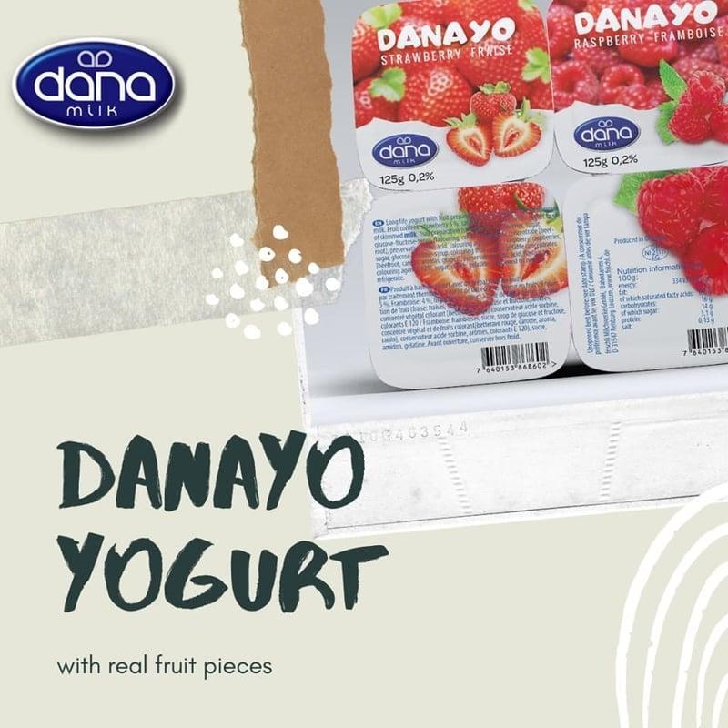 DANAYO YOGUR CON FRUTA DE LARGA DURACIÓN  - Yogur con auténtica fruta elaborado con leche desnatada