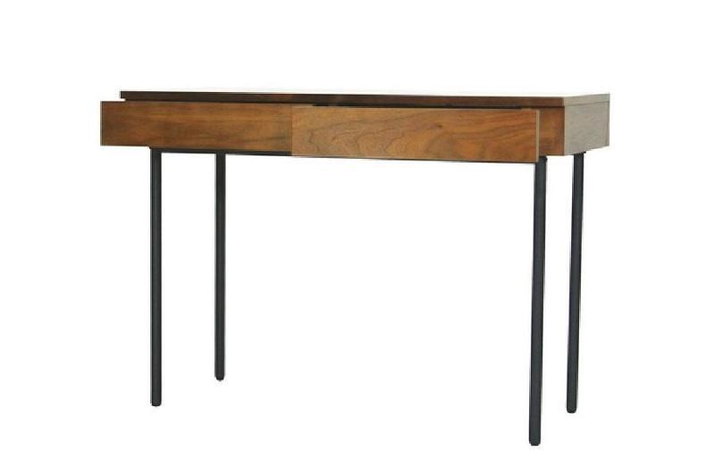 Bureau en bois design industriel 299 meni for Petit bureau en bois