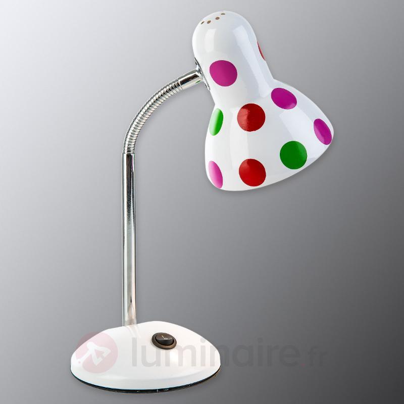 Lampe à poser à pois colorés Pointer - Chambre d'enfant