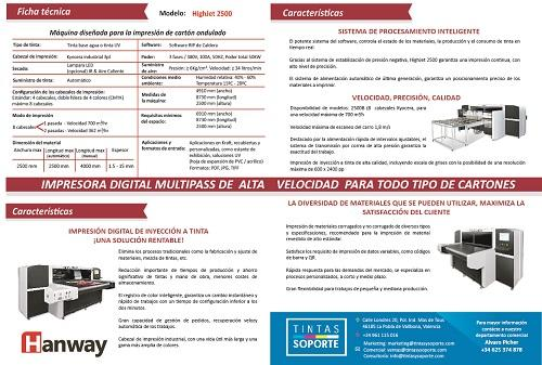 Hanway 2500B  - Impresora Digital Multipass