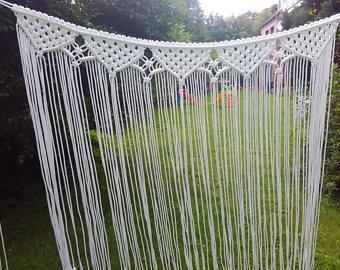Garland macrame wedding curtain