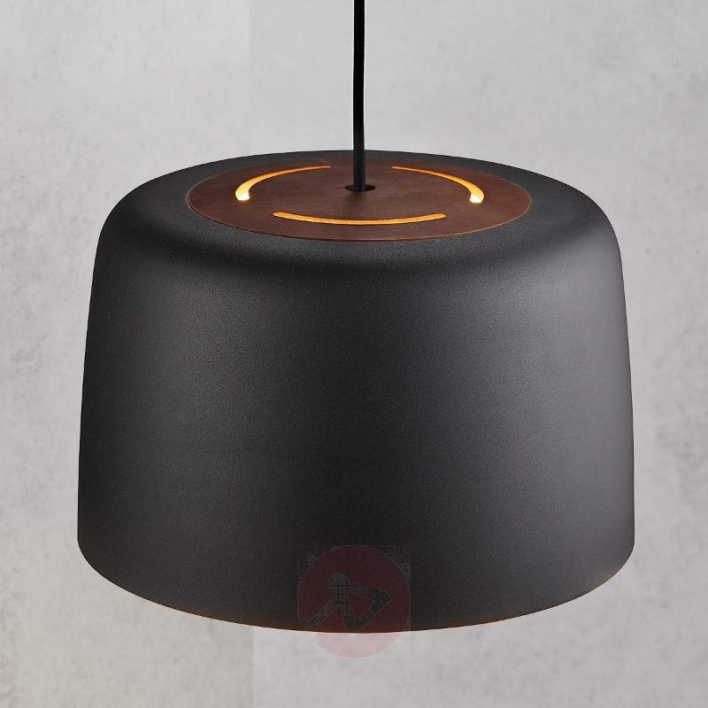Black metal pendant lamp Vision 31 cm - Pendant Lighting