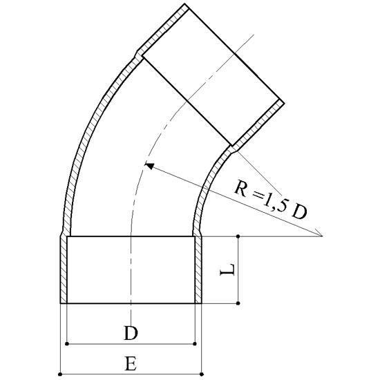 Curve 45° - Raccordi PVC