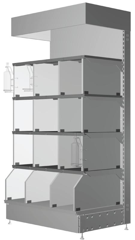 Modular shop rack systems & instore interior shelving design - Wine presentation