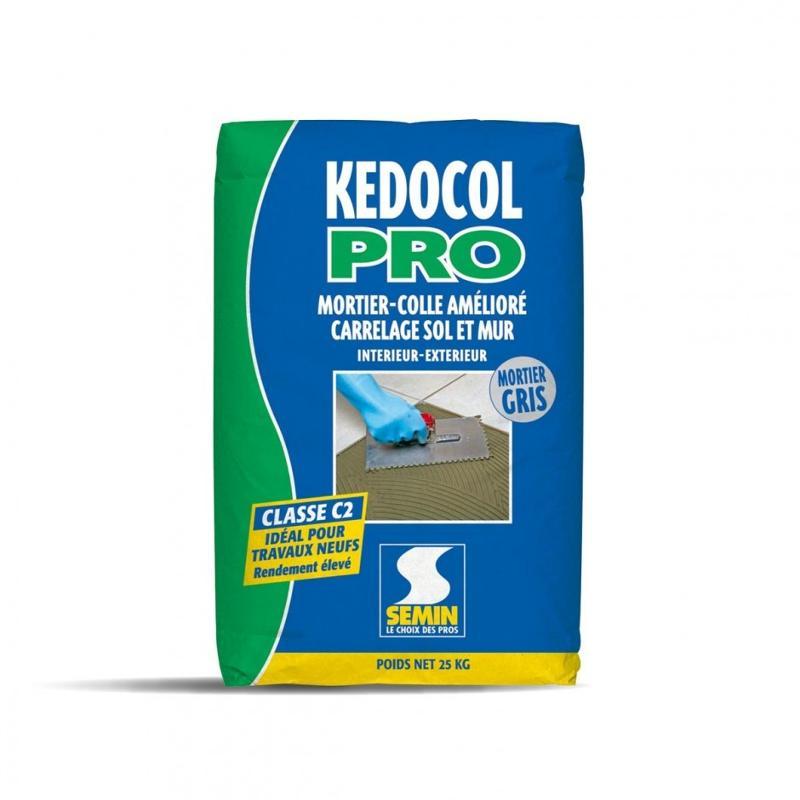 KEDOCOL PRO - Mortier colle améliore pour carrelage intérieur et extérieur classe C2