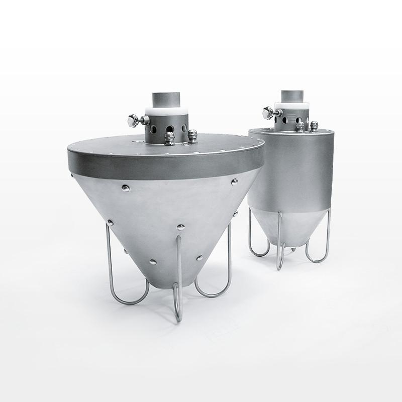 Discharge station for bulk materials - Big Bag discharge station made of stainless steel with oscillating system