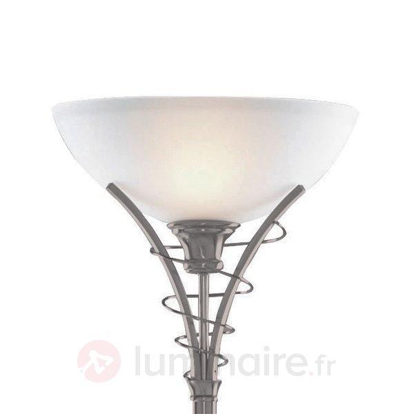 Lampadaire intemporel LINEAS argenté mat - Lampadaires à éclairage indirect