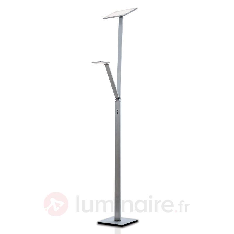 Lampadaire LED Ayana avec liseuse intégrée - Lampadaires LED à éclairage indirect