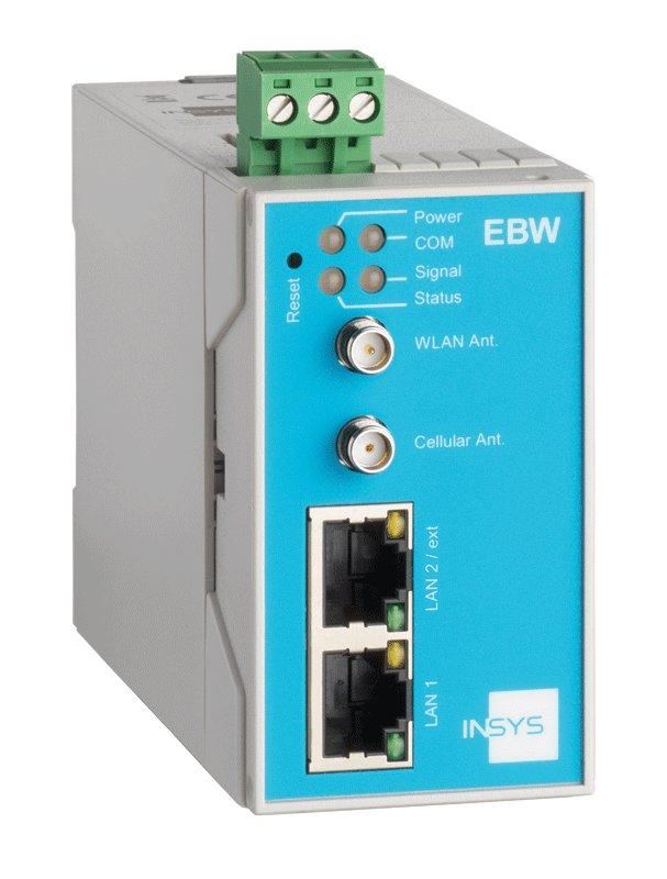 EBW-WH100 WiFi Industrial Router with 3G/2G, VPN, Full-NAT - EBW-WH100 Mobile Radio Router, WiFi, 2 Port Switch, Firewall, Programmable