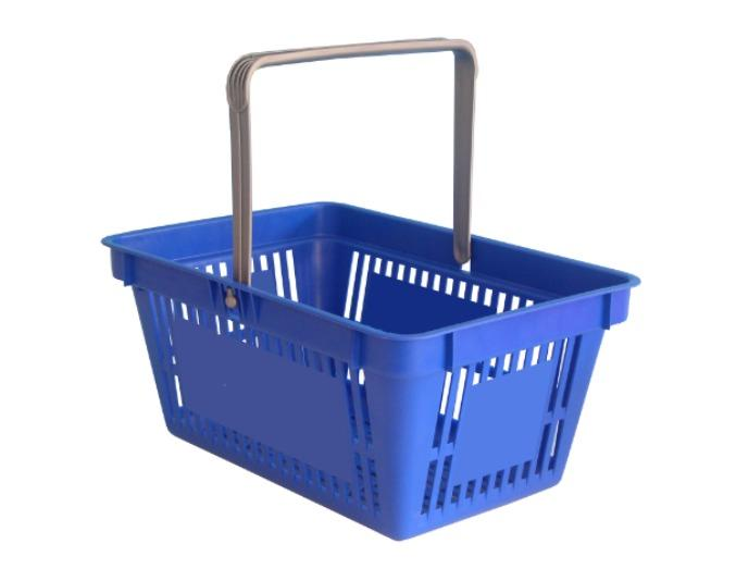 Shopping basket with one handle (space for print) -