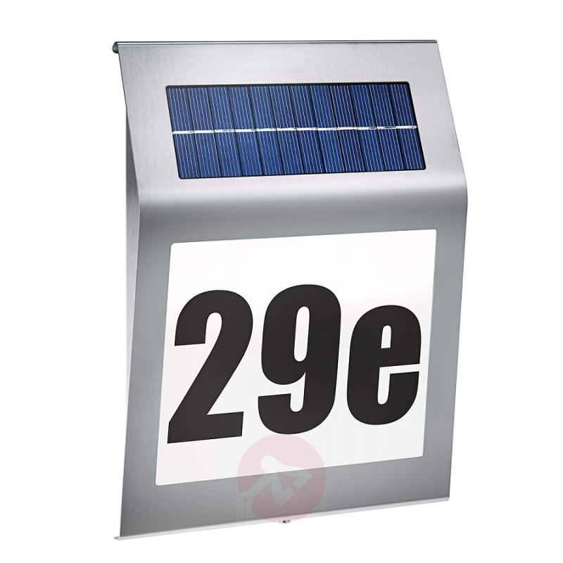 Style - solar design house number light - stainless-steel-outdoor-wall-lights