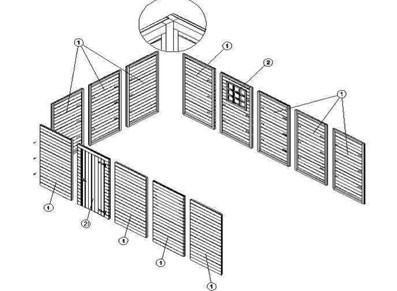 Garage bois - Panneau traité