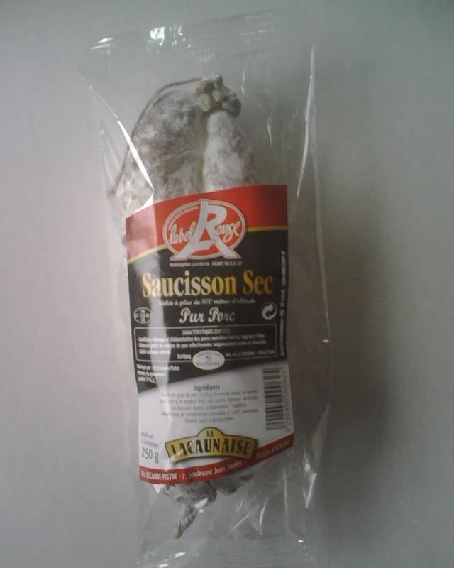 SAUCISSON SEC LABEL ROUGE LA LACAUNAISE 250 G (colis... - Viande et volailles