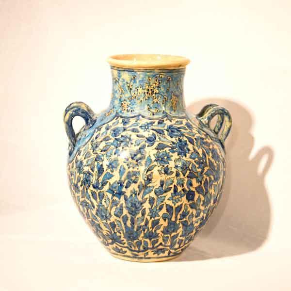 Handpainted Handle Vase -
