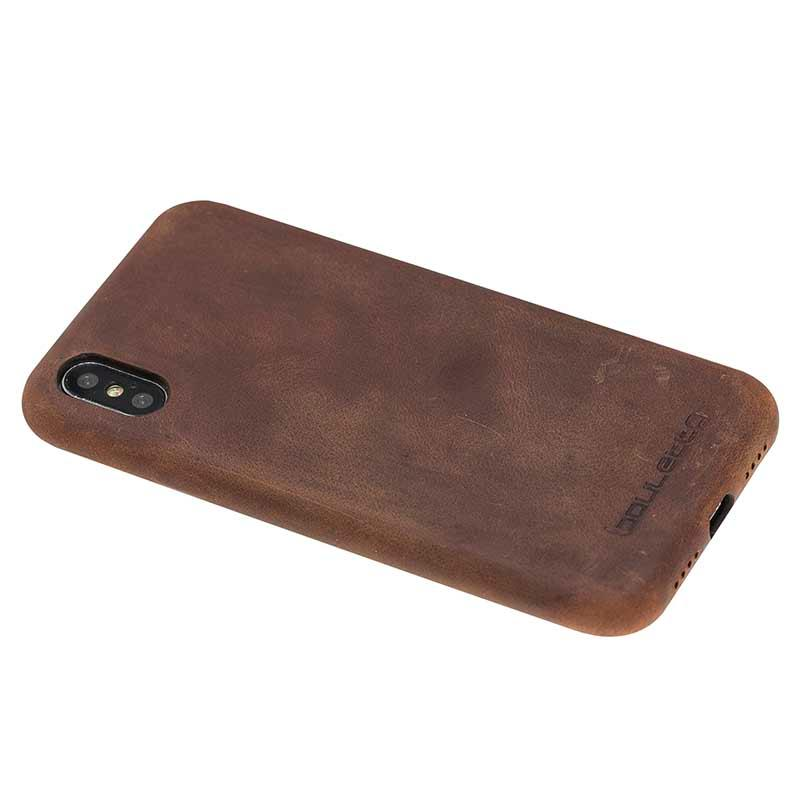 iPhone X Ultra Back Cover - Leather mobile phone back cover case for iphone X