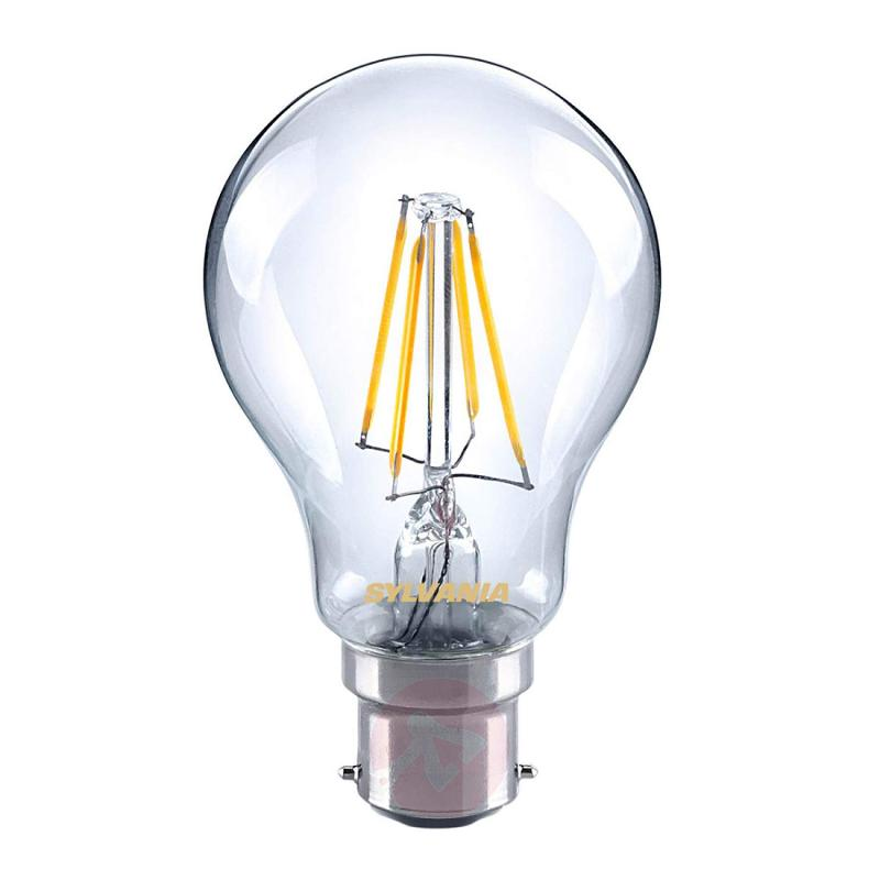 B22 4W 827 LED filament bulb, clear - light-bulbs