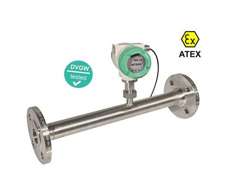 Durchflussmessgerät - VA 570 - Durchflusssensor mit integrierter Messstrecke sowie ATEX- bzw. DVGW-Zulassung