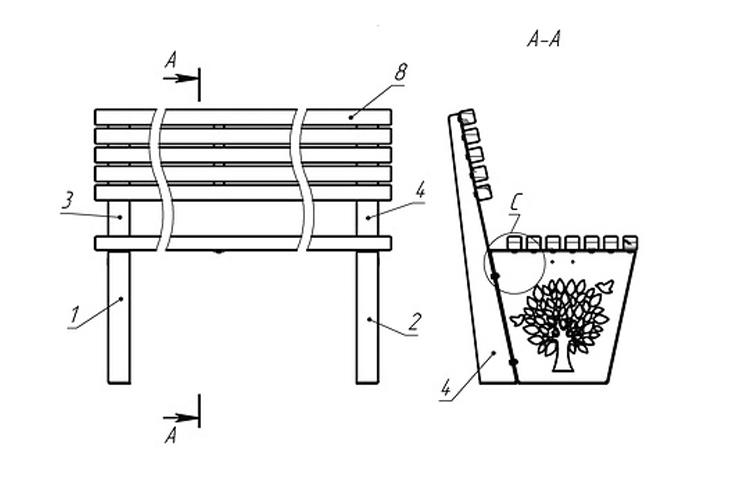 Bench «Tree» - Benches and sun loungers