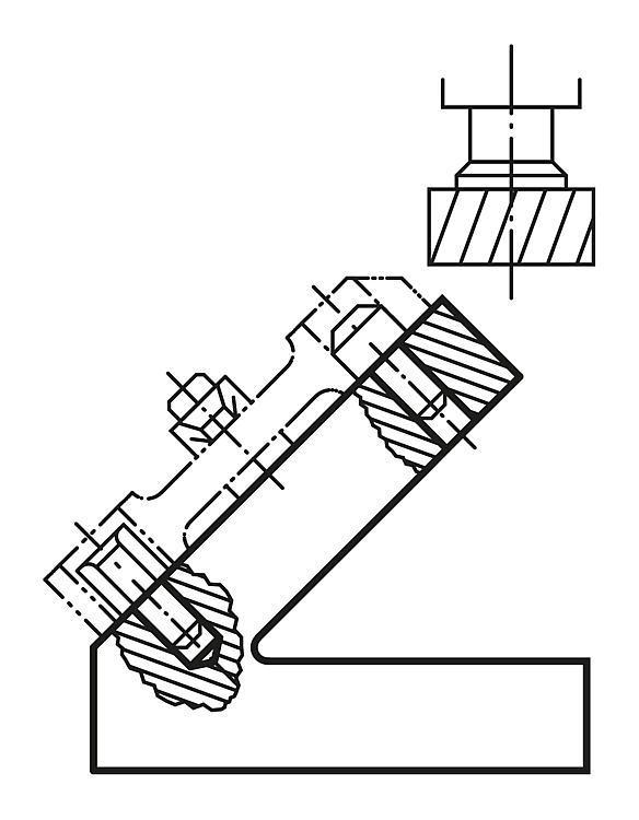 Profil oblique à 45° Fonte grise - Profilés