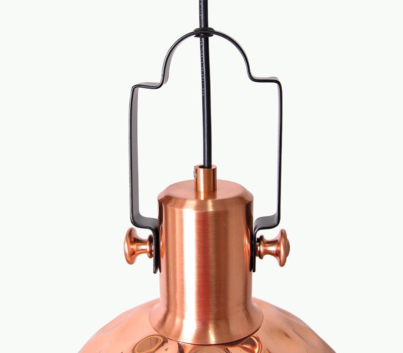 Suspension finition cuivre martelé  - 40W, E27 - Ø300 mm