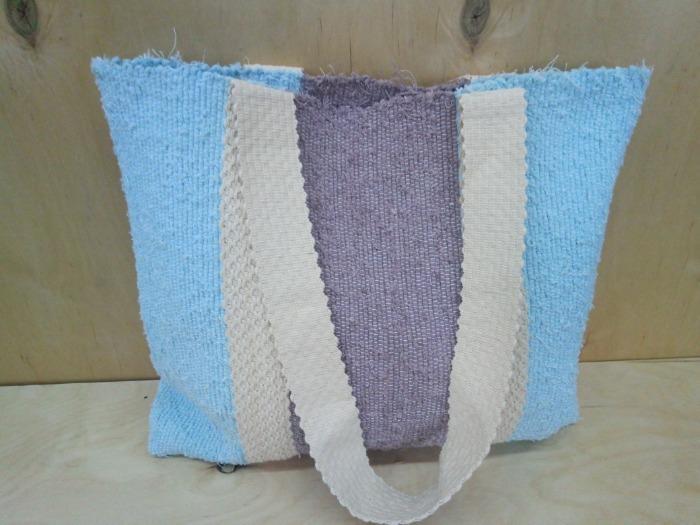 Handwoven tote cotton bag! - 100% handmade! Eco style!