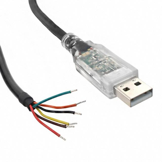 CABLE USB SERIAL 5V WIRE 450MA - FTDI, Future Technology Devices International Ltd TTL-232RG-VSW5V-WE