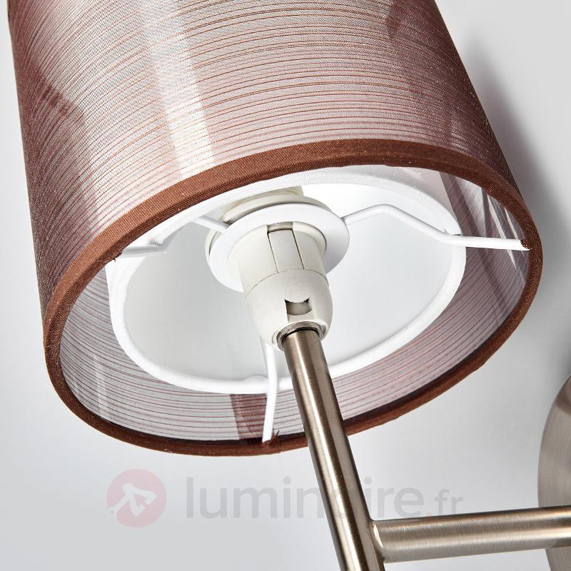 Applique Nica avec abat-jour en tissu brun - Appliques en tissu