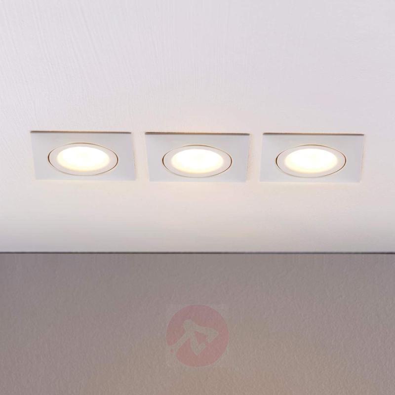 LED recessed lights Andrej in white, set of 3 - indoor-lighting